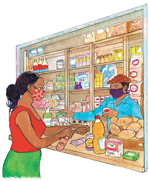 PACK Home - buying groceries safely