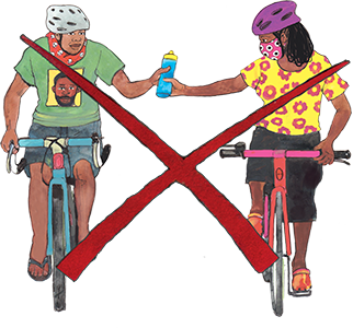 PACK Home - do not share drinks while exercising