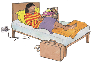 PACK Home - facility isolation-lying-on-bed
