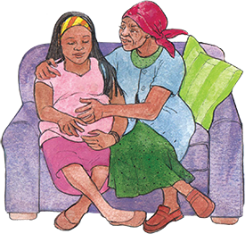 PACK Home - mother and daughter on couch