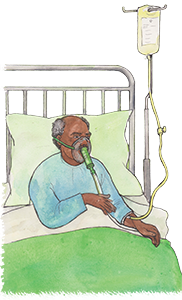 PACK Home - patient in hospital bed