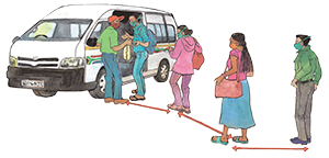 PACK Home - taxi queue
