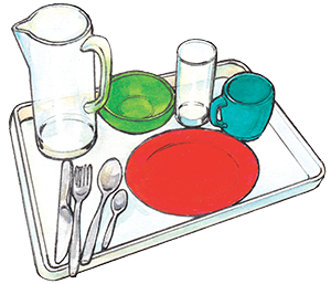 PACK Home - tray with cutlery