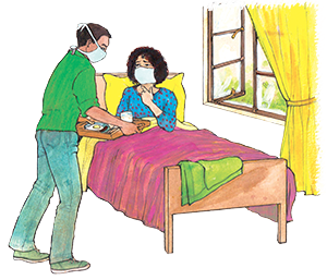PACK Home - woman in bed with carer